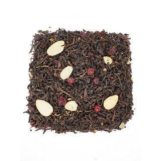 Черный чай Брусника с миндалем