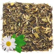 Черный чай с ромашкой и мятой