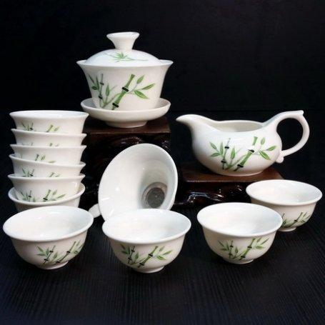 Набор для чайной церемонии из фарфора Бамбук