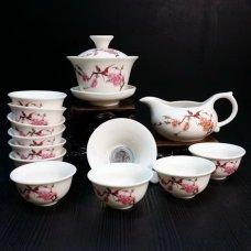 Уценка! Набор для чайной церемонии из фарфора Птицы сакуры