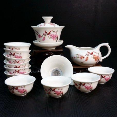 Набор для чайной церемонии из фарфора Птицы сакуры