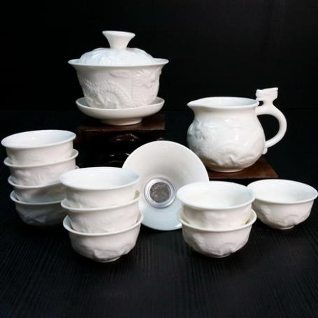 Набор для чайной церемонии из фарфора Белый дракон