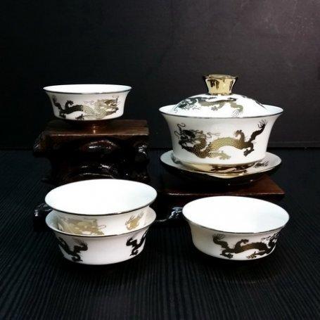 Набор для чайной церемонии из фарфора Имперский дракон