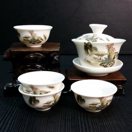 Набор для чайной церемонии из фарфора Деревня Шань мини