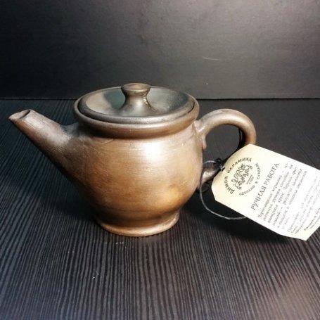 Чайник из чернолощеной керамики Суздаль