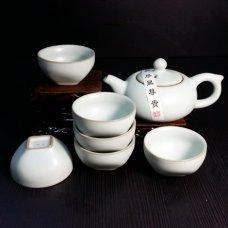 Набор для чайной церемонии из фарфора Лунный камень