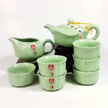 Набор для чайной церемонии Лунный камень 2 (Жу Яо, Селадон)