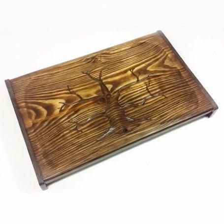 Чабань | Поднос ручной работы из дуба Древо
