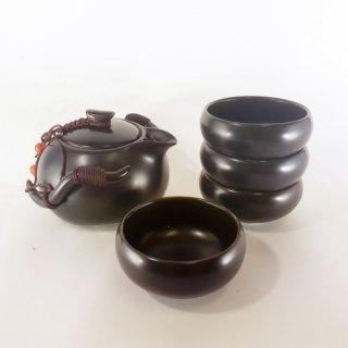 Набор для чайной церемонии Лу (дорожный, черный)