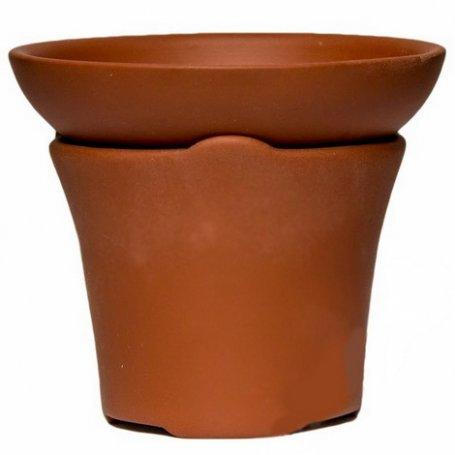 Сито для чайной церемонии светло-коричневое (глина, капрон)