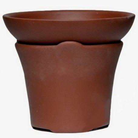 Сито для чайной церемонии темно-коричневое (глина, капрон)