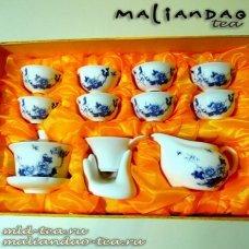 Чайный набор из фарфора №12 - Цветы