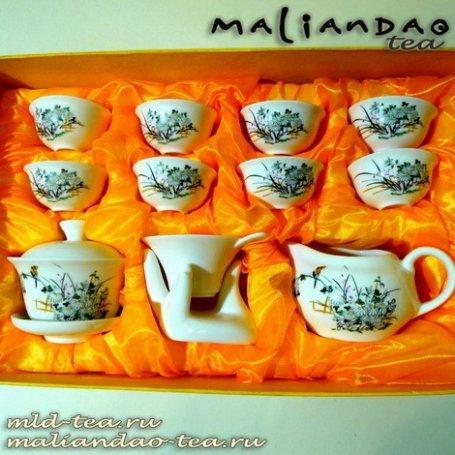 Чайный набор из фарфора №1 - Цветущий сад