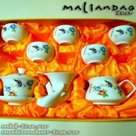 Чайный набор из фарфора №18 - Птицы