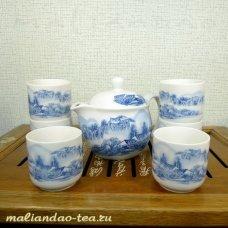 Набор для чайной церемонии Синие мотивы