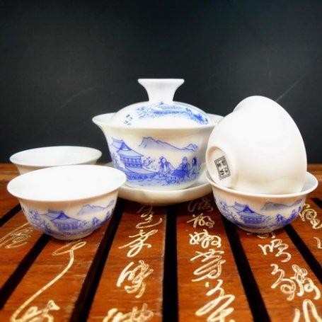 Набор для чайной церемонии из фарфора Дневной совет