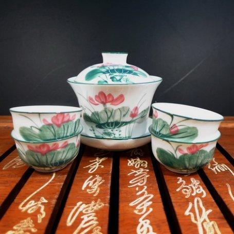Набор для чайной церемонии из фарфора Цветущий лотос
