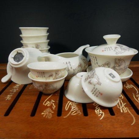 Чайный набор из фарфора №13 - Мудрецы