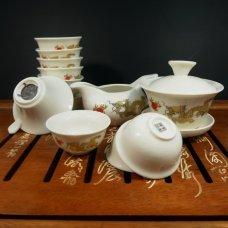 Набор для чайной церемонии из фарфора Желтый дракон 2