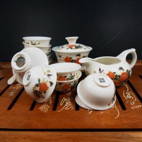 Набор для чайной церемонии из фарфора Роза
