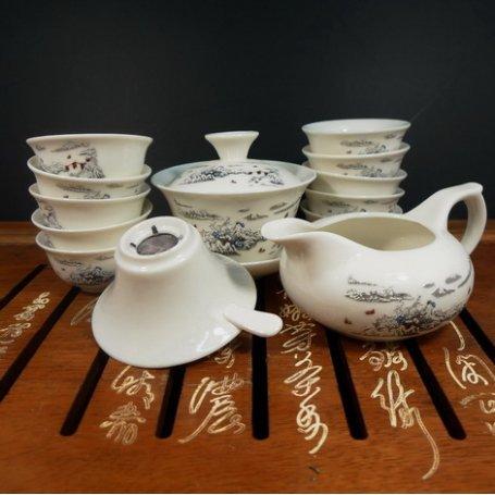 Набор для чайной церемонии из фарфора Зимние берега