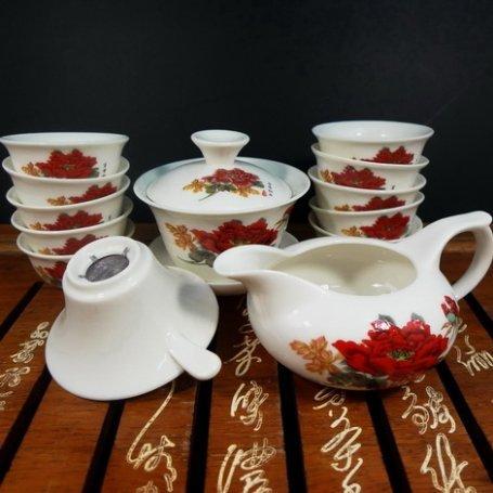 Набор для чайной церемонии из фарфора Мак