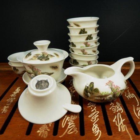 Набор для чайной церемонии из фарфора Деревня Шань