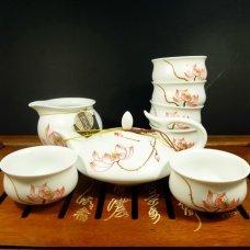 Набор для чайной церемонии из фарфора Лотос