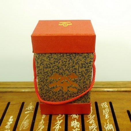 Подарочная банка №6 на 150 грамм (красно-синяя)