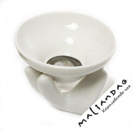 Сито для чайной церемонии Рука Будды (керамика, металл)