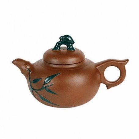 Глиняный чайник Хамелеон Бамбук