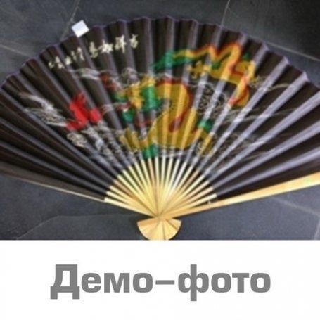 Китайский веер Дракон №4 черный (90 см)