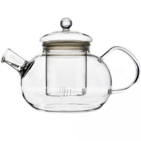Чайник стеклянный заварочный Фиалка