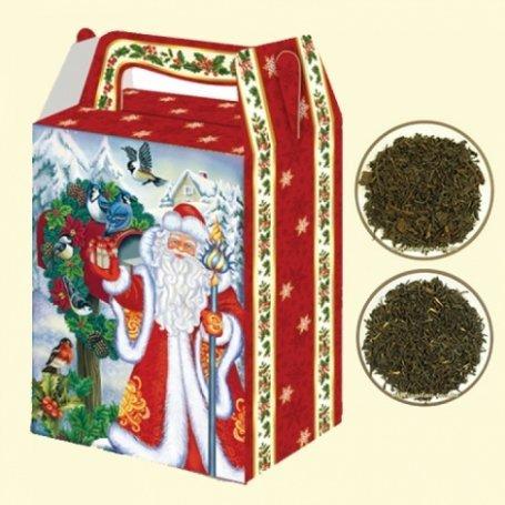Черный набор - новогодний подарочный набор чая