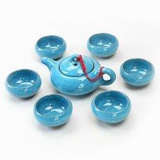 Набор для чайной церемонии Колотый лед голубой
