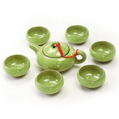 """Набор для чайной церемонии """"Колотый лед"""" салатовый"""