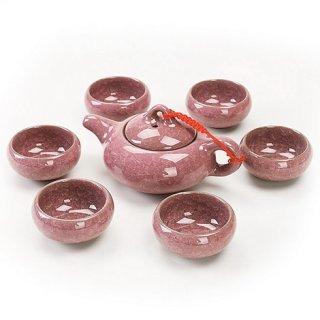 Набор для чайной церемонии Колотый лед сиреневый