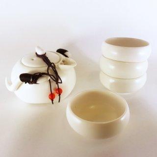 Набор для чайной церемонии Лу (дорожный, белый)