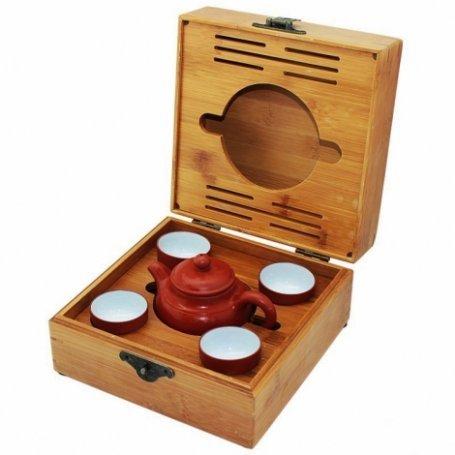 """Набор для чайной церемонии """"Забытые традиции 2"""" коричневый"""